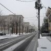 4月に積雪!
