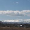 残雪の樽前山