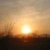 樽前山の夕陽