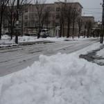 この冬初めての除雪